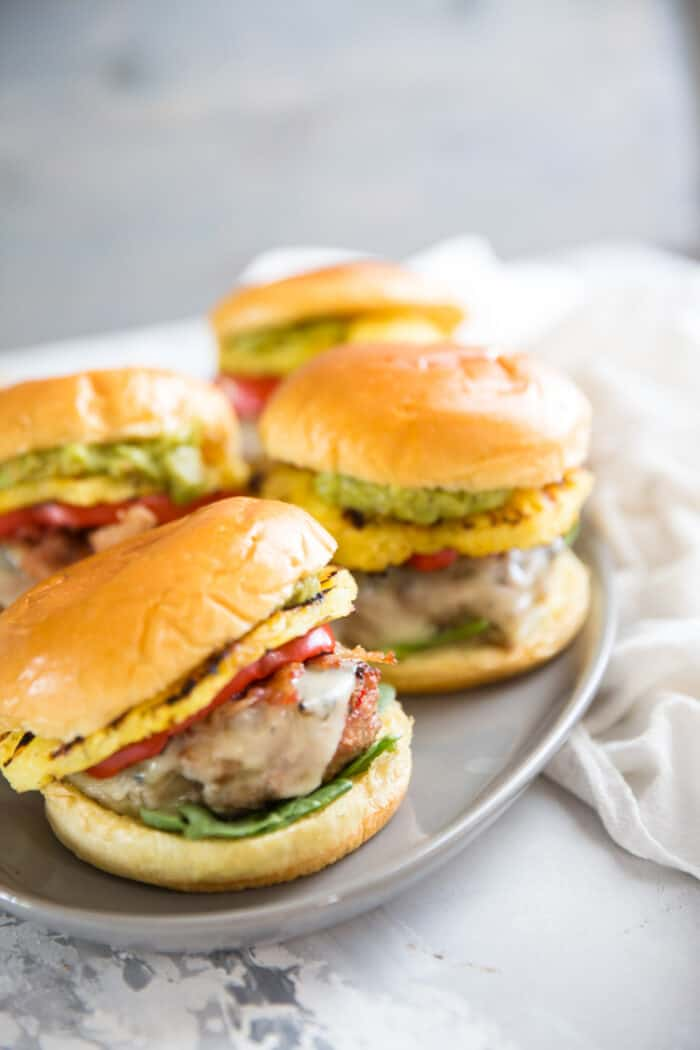 Turkey burgers together