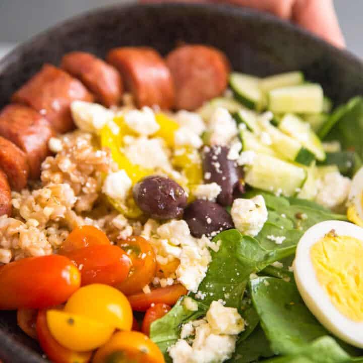 Mediterranean Farro Breakfast Bowl