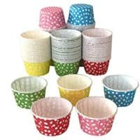 Polka Dot Cupcake Muffin Cups – (Assorted pack of 125-25 of each color) 2.5 inch Sturdy Round Shape Baking Liners Paper Cupcake Holders