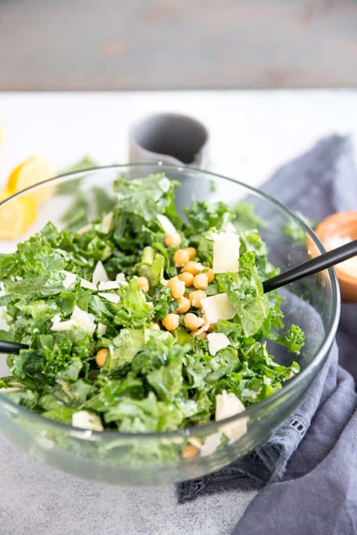 kale salad finished