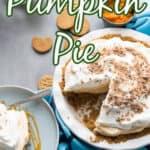no bake pumpkin pie title