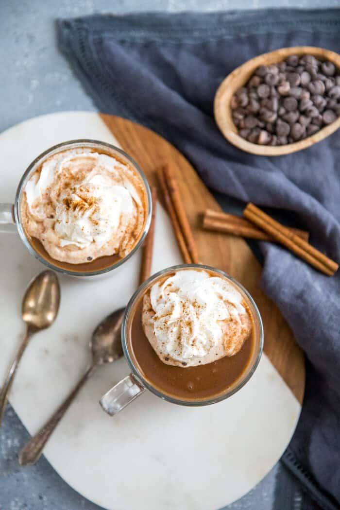 mocha chai tea latte