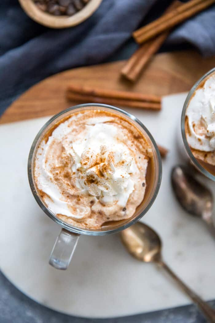 chai latte with whipped cream