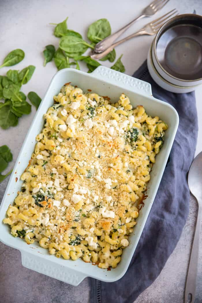 spanakopita mac and cheese