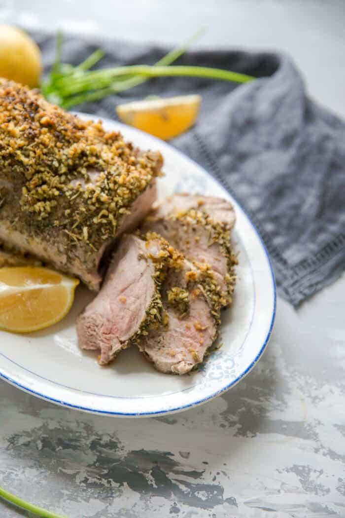 pork roast 3 slices