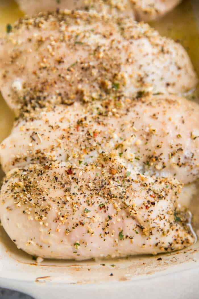 baked chicken close up