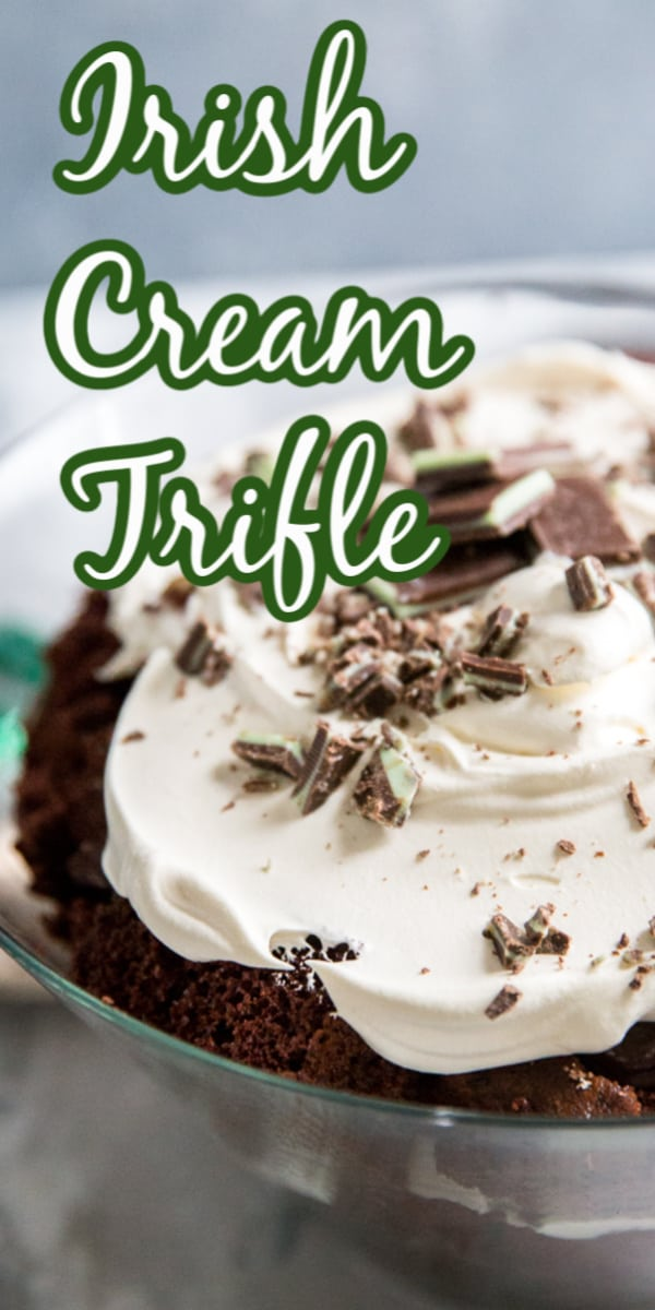 Irish Cream trifle title image