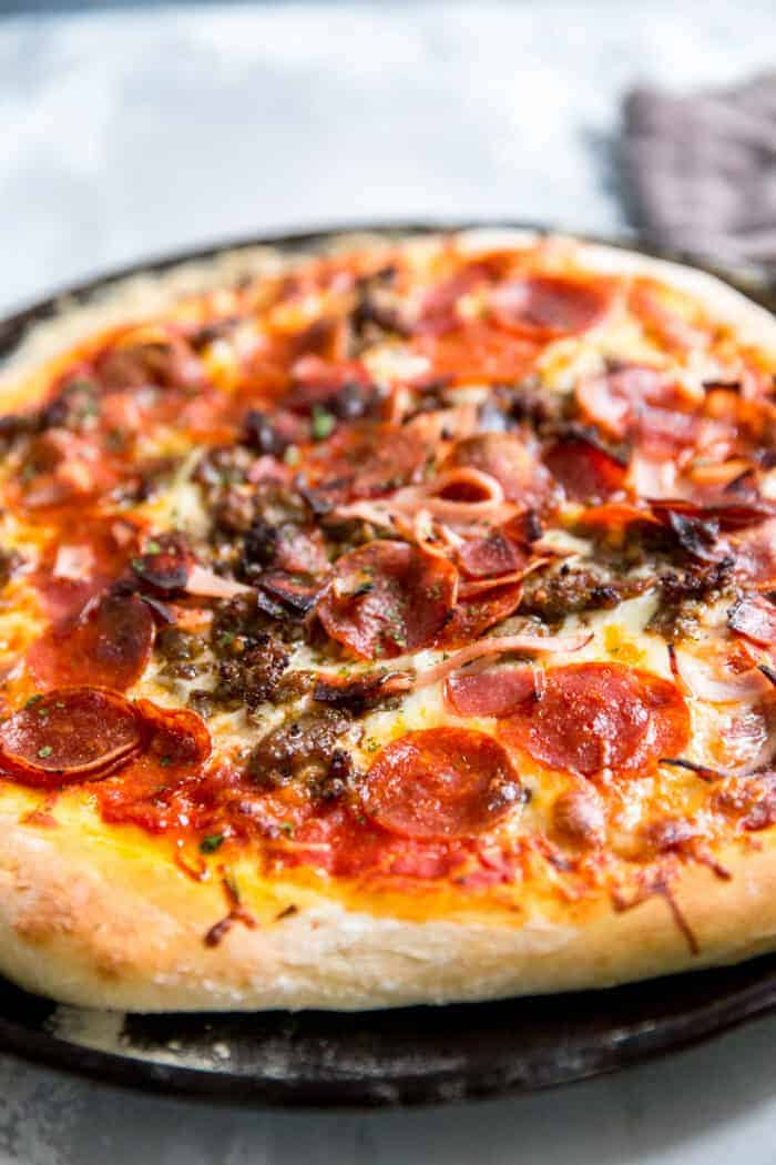 meaty Italian pizza