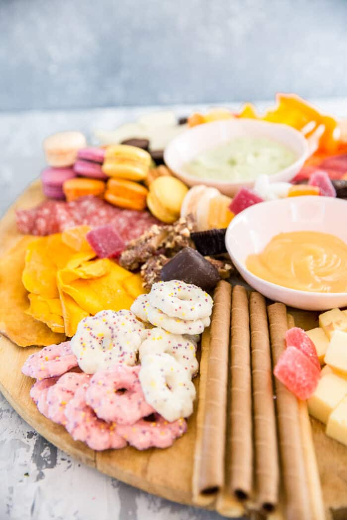 charcuterie platter with cookies
