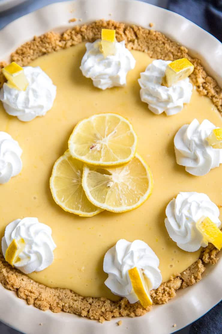 lemon pie close up