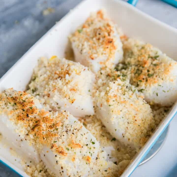 coated cod fillets