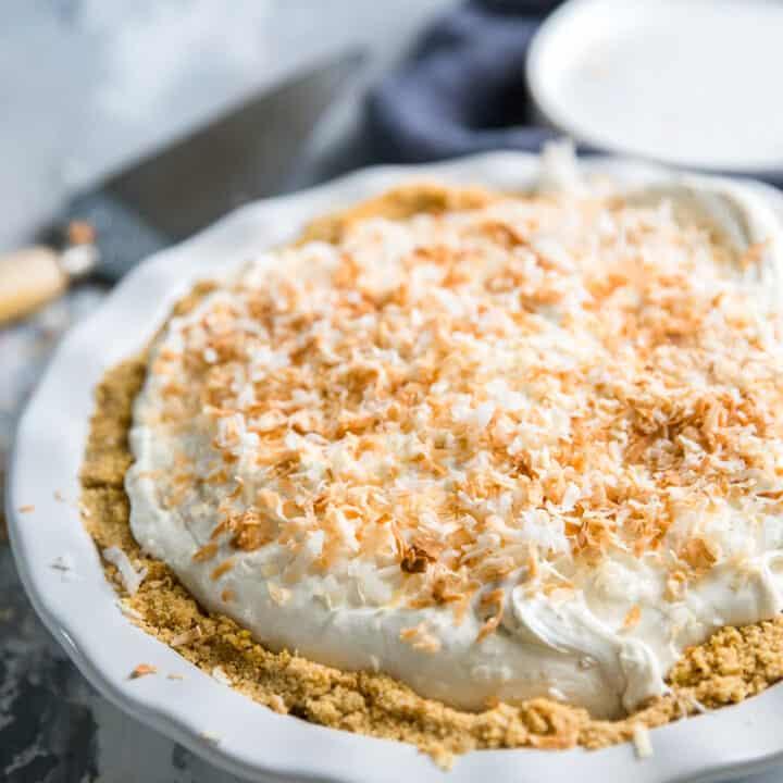 no-bake cheesecake white pie plate