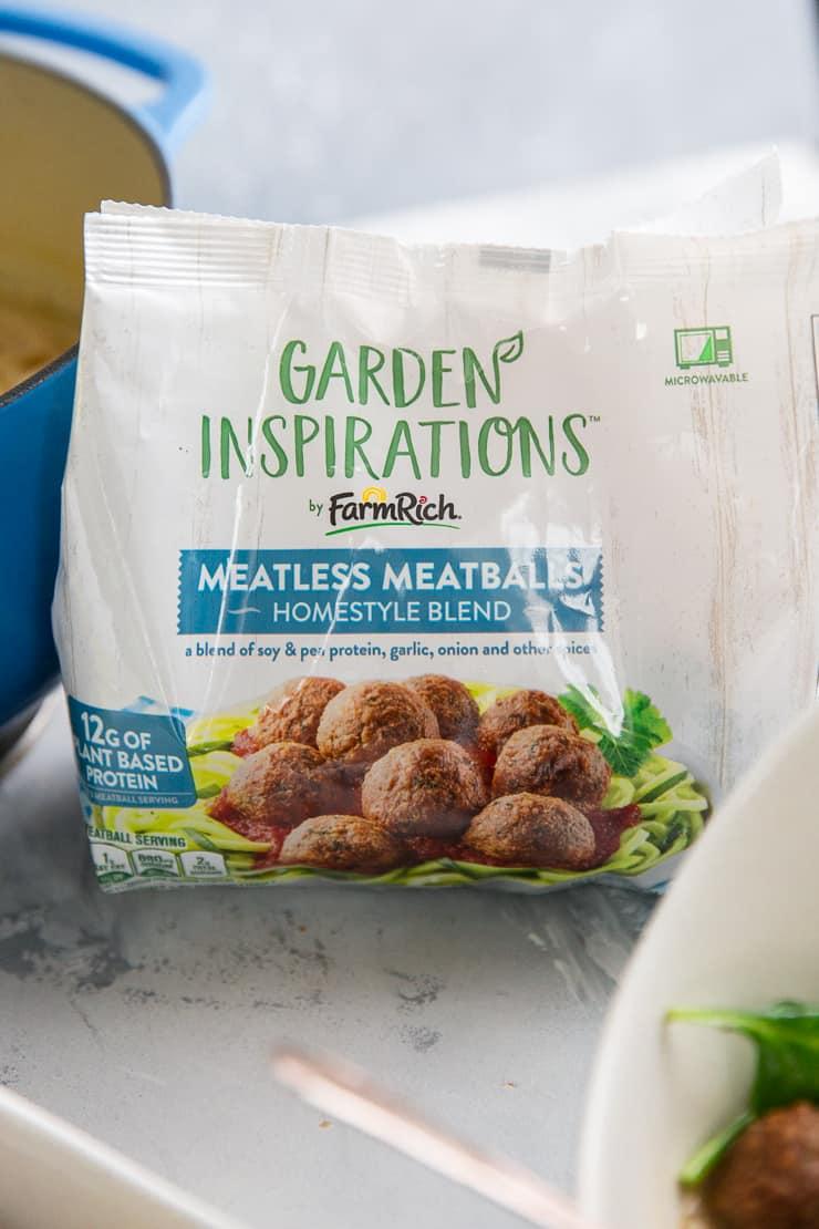 Garden Inspirations Meatless meatballs