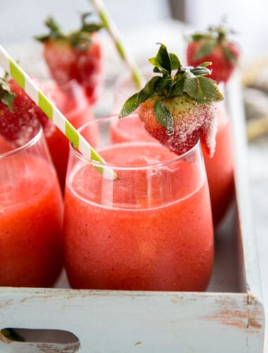 strawberry daiquiri close up