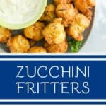 zucchini fritters with dip