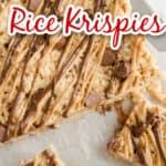 peanut butter rice krispie treats image