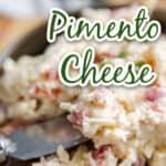 white cheddar pimento cheese recipe title image