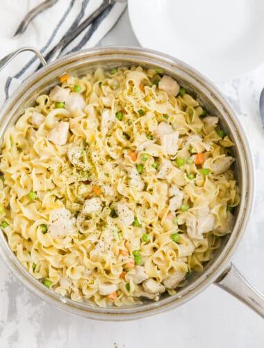 chicken noodle casserole skillet