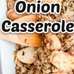 ground beef casserole image with title
