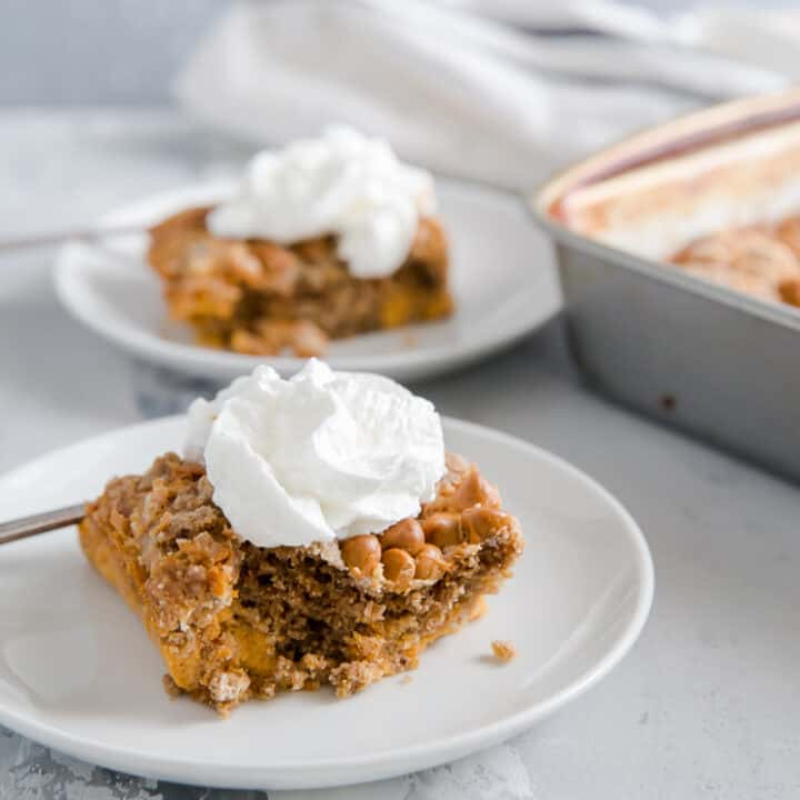 Butterscotch Pumpkin Dump Cake