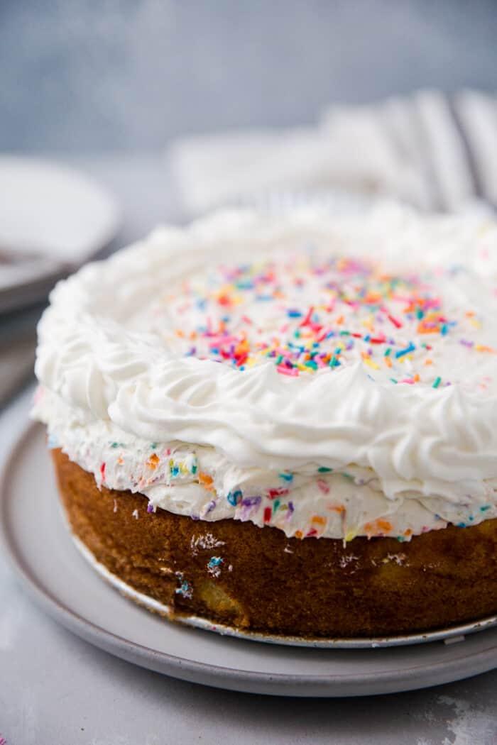 whole cheesecake funfetti cake