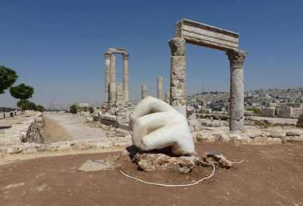 Amman's citadel w/ giant hand