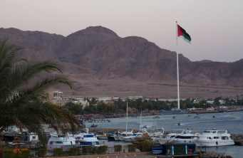 The giant flag and flagpole in Jordan