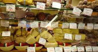 Cheese and salumi selection