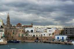Monopoli old town from the harbour