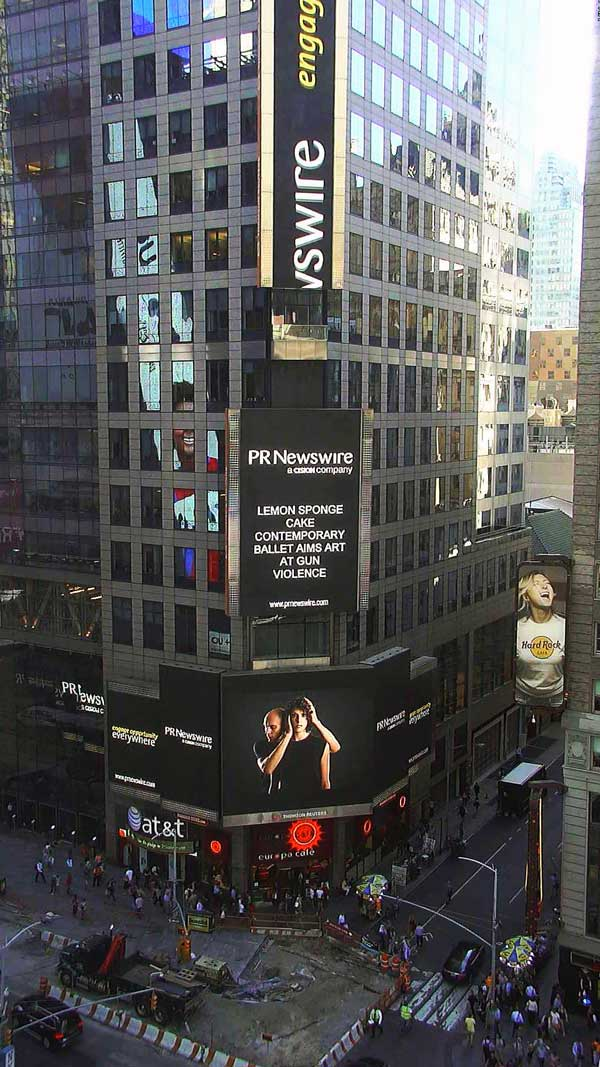 Lemon Sponge Cake Contemporary Ballet on Times Square New York