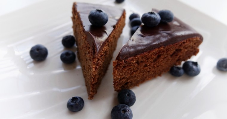 Chocolate Cake with Espresso Ganache (GF)
