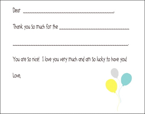 Kids Generic Birthday Thanks:  Download