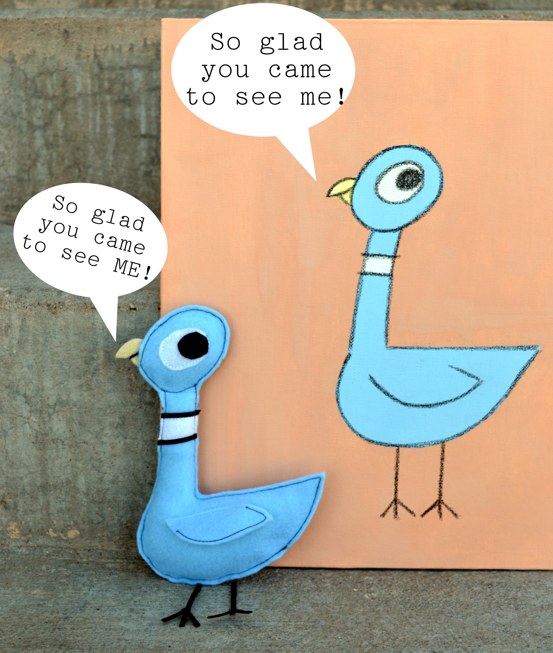the pigeon painting and softie tutorial mo willems character