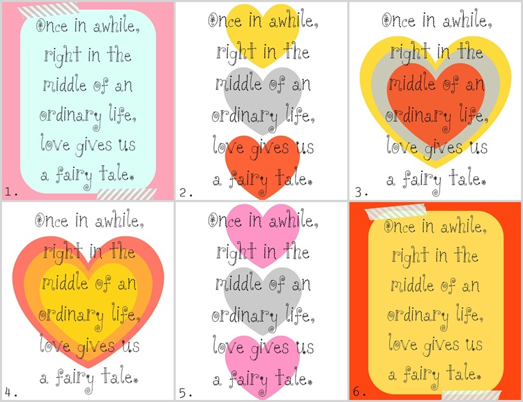 'Love gives us a fairy tale': Valentine's Printable