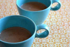 Coconut Almond Hot Chocolate