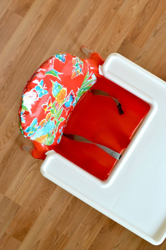 High Chair Back Cushion {DIY}