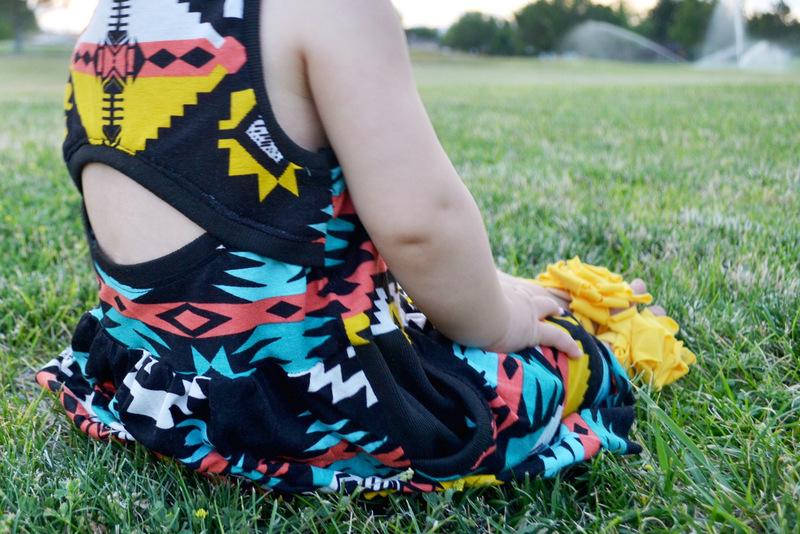 tribal soleil dress // lemon squeezy home