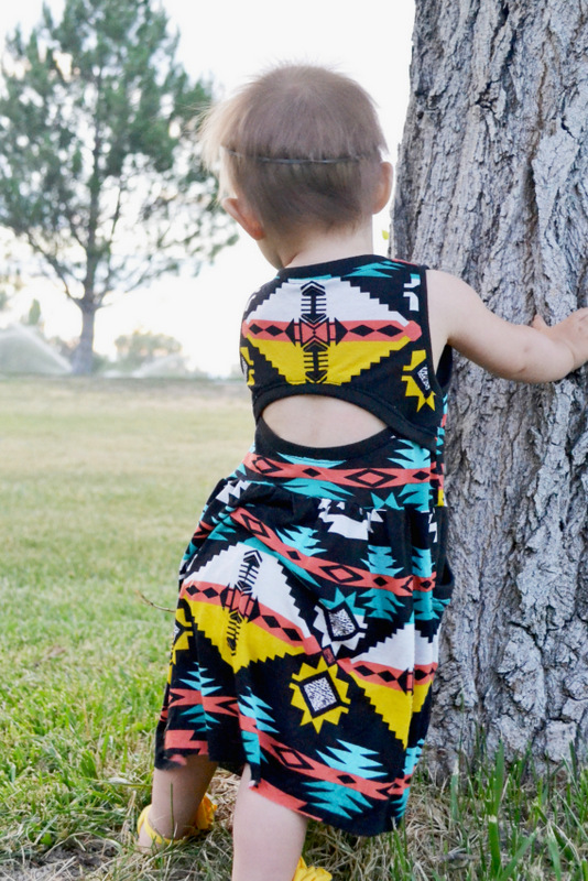 tribal soleil dress // lemon squeezy home