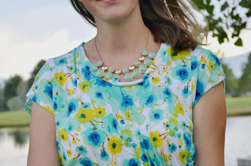 Make it Perfect Pattern Parade: Floral Coastal Breeze Dress