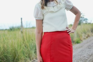 Seamed Pencil Skirt Tutorial {Delia Creates Pencil Skirt Pattern Remix Tour}