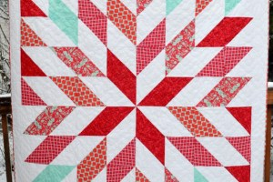 Red and Turquoise Quilt + Mini Tutorial