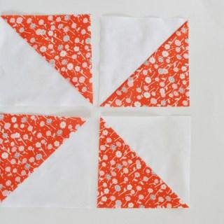 Easy Half Square Triangles // lemon squeezy home