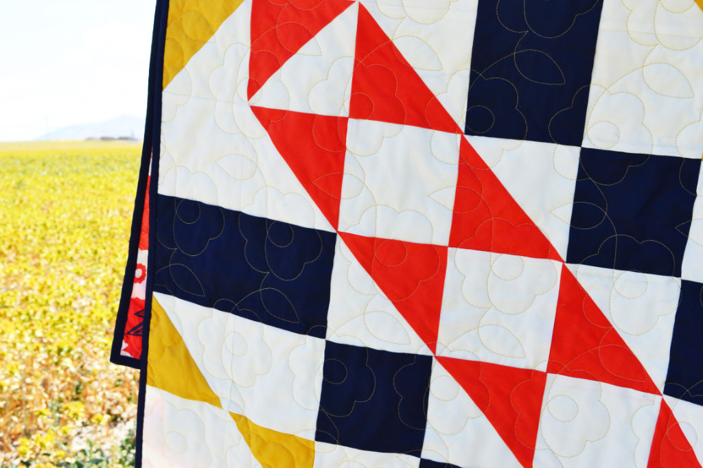 Safflower Quilt // Lemon Squeezy Home