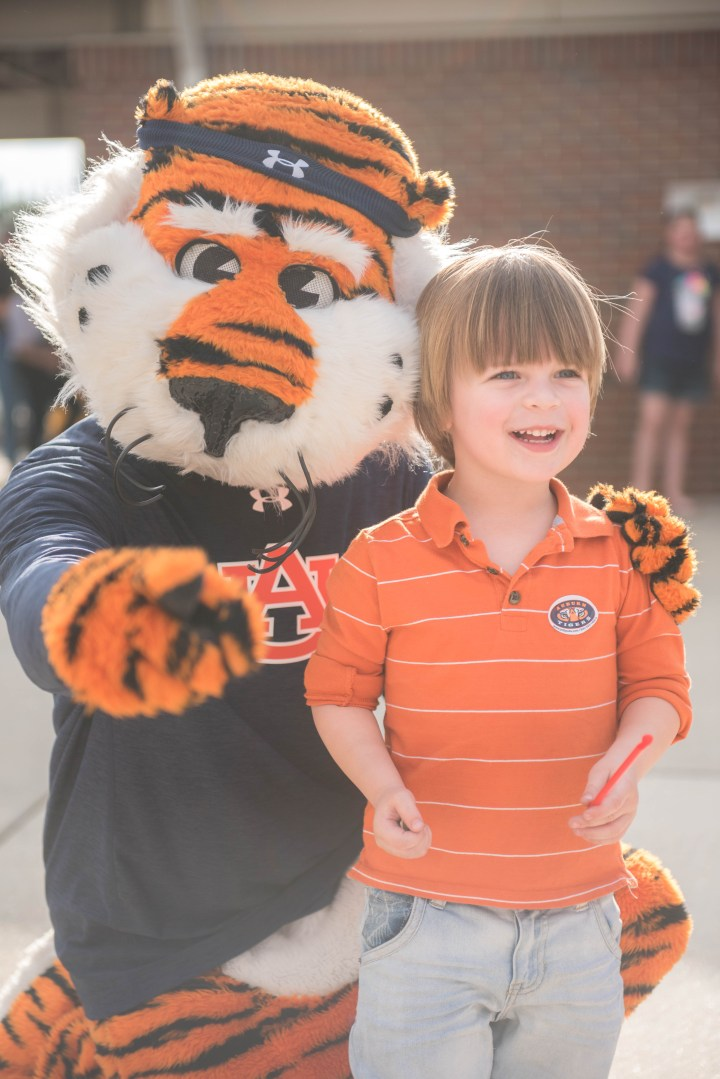 Auburn University Aubie kid friendly
