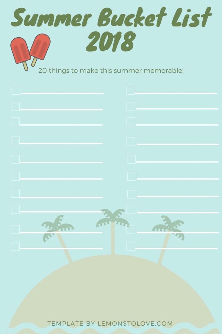 Bucket List Free template