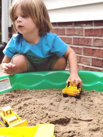DIY sensory sandbox