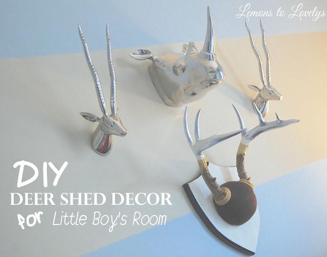 DIY Deer Antler Decor www.lemonstolovelys.com