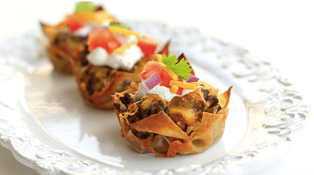 Delicious and Easy Taco Cupcakes Recipe by the-girl-who-ate-everything.com