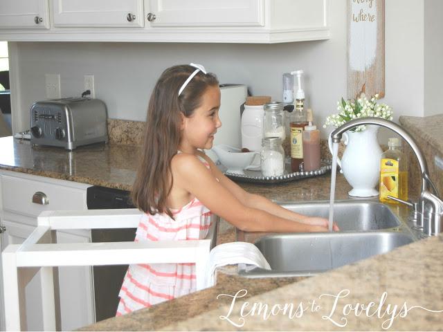 DIY Kitchen Helper. Full tutorial on the blog. www.lemonstolovelys.blogspot.com