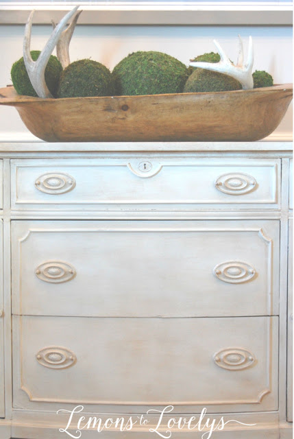 Sideboard Makeover using CeCe Caldwell's paint. Tap to see more photos on the blog. www.lemonstolovelys.blogspot.com
